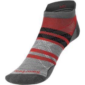 Smartwool Run Zero Cushion Pattern Low Ankle Socks, rosso